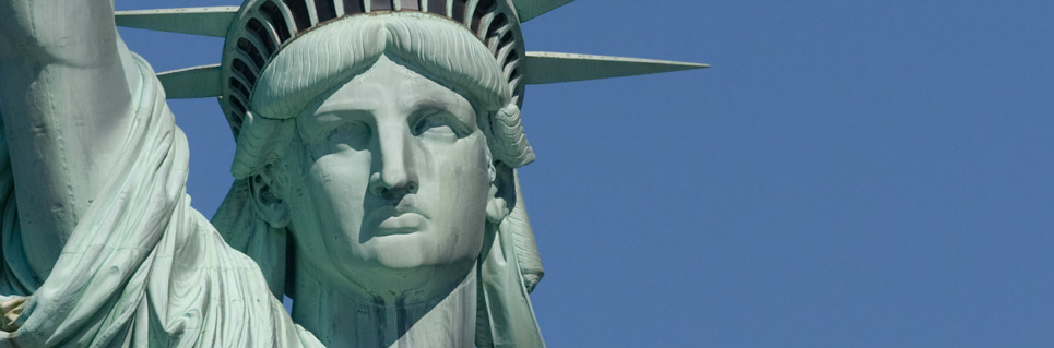 Liberty gazing out at about 265 feet above the water of New York Harbor. Image by Statue of Liberty Tickets
